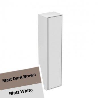 Ideal Standard Concept Air 1 Door Tall Column Unit 400mm Wide - Matt Dark Brown / Matt White