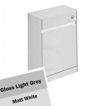 Ideal Standard Concept Air WC Unit with Worktop 600mm Wide - Gloss Light Grey / Matt White