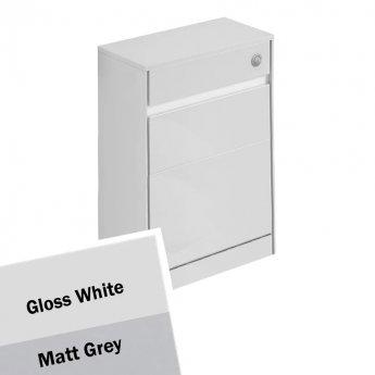 Ideal Standard Concept Air WC Unit with Worktop 600mm Wide - Gloss White / Matt Grey