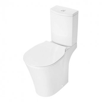 Ideal Standard Concept Air Close Coupled Full Access Toilet with 6/4 Litre Cistern - Slim Wrap Soft Close Seat