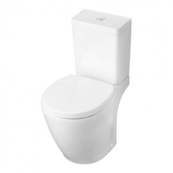 Ideal Standard Concept Space Close Coupled Full Access Toilet with Cube 6/4 Litre Cistern - Soft Close Seat
