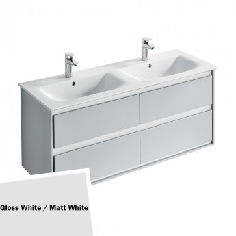 Ideal Standard Concept Air 4-Drawer Wall Hung Vanity Unit with Basin - 1200mm Wide - White
