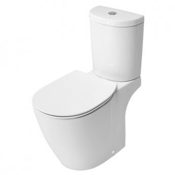 Ideal Standard Concept Arc Aquablade Close Coupled Toilet - Push Button Cistern - Soft Close Seat