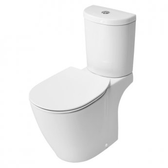 Ideal Standard Concept Aquablade Arc Close Coupled Toilet Dual Flush Cistern Slim - Standard Seat
