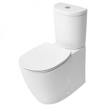 Ideal Standard Concept Aquablade Arc Close Coupled Back to Wall Toilet Cistern Slim Soft Close
