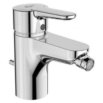 Ideal Standard Concept Blue Single Lever Bidet Mixer Tap with Pop Up Waste Chrome