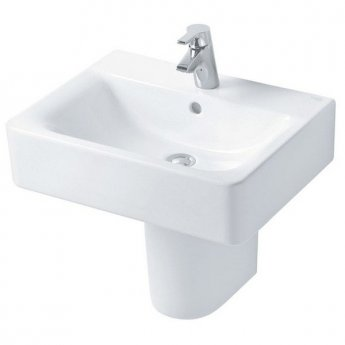 Ideal Standard Concept Cube Basin and Semi Pedestal 550mm Wide 1 Tap Hole