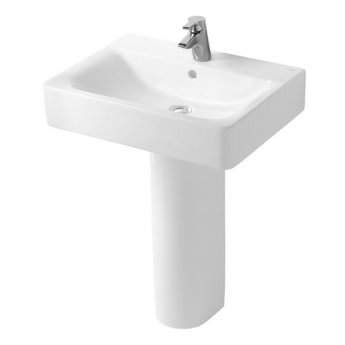 Ideal Standard Concept Cube Basin and Full Pedestal 500mm Wide 1 Tap Hole