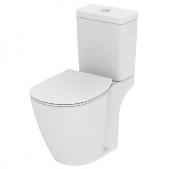 Ideal Standard Concept Cube Close Coupled WC Toilet Push Button Cistern Soft Close Seat White