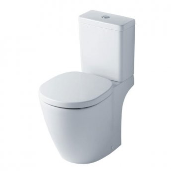 Ideal Standard Concept Cube Close Coupled WC Toilet Push Button Cistern Standard Seat White