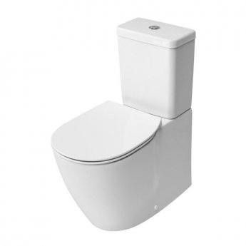 Ideal Standard Concept Cube Close Coupled Toilet - Push Button Cistern - Soft Close Seat