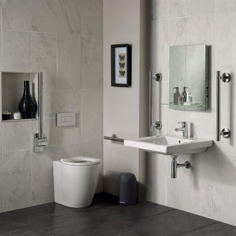 Ideal Standard Concept Doc M Pack with BTW Disabled Toilet and 600mm Basin - White