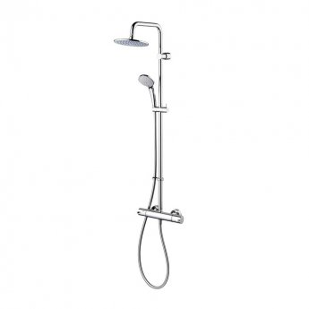 Ideal Standard Concept Freedom Dual Thermostatic Bar Shower Valve with Shower Kit + Fixed Head