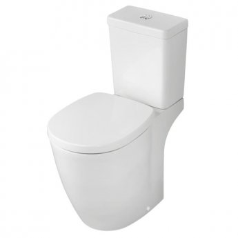 Ideal Standard Concept Freedom Raised Height Close Coupled Toilet Dual Flush Cistern - Soft Close Seat