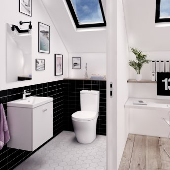 Ideal Standard Concept Freedom Raised Height Close Coupled Toilet Dual Flush Cistern Standard Seat