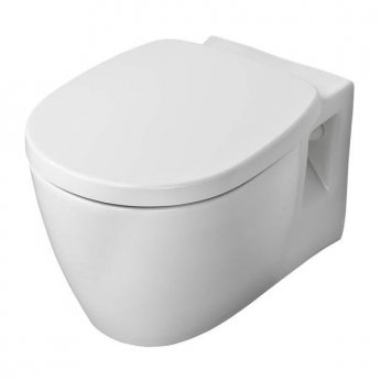 Ideal Standard Concept Freedom Raised Height Wall Hung Toilet 545mm Projection - Soft Close Seat