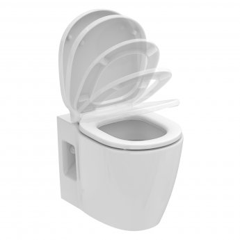 Ideal Standard Concept Freedom Raised Height Wall Hung Toilet 545mm Projection - Standard Seat
