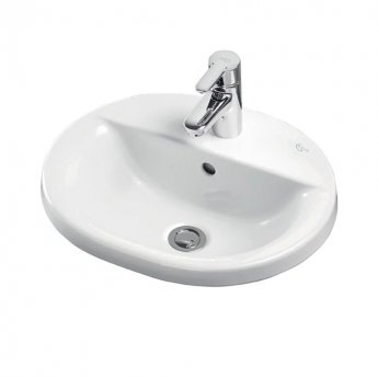 Ideal Standard Concept Oval Countertop Basin 550mm Wide 1 Tap Hole