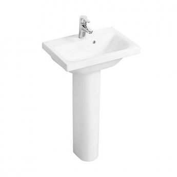 Ideal Standard Concept Space Basin and Full Pedestal 500mm x 380mm 1 Tap Hole