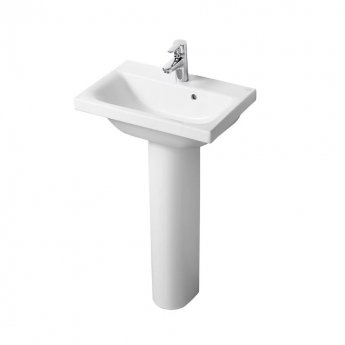 Ideal Standard Concept Space Basin with Full Pedestal 550mm Wide - 1 Tap hole