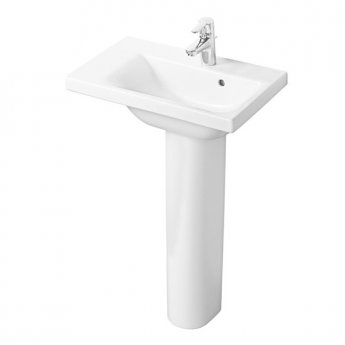 Ideal Standard Concept Space Left Hand Basin and Full Pedestal 600mm x 380mm 1 Tap Hole