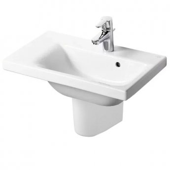 Ideal Standard Concept Space Left Hand Basin and Semi Pedestal 700mm x 380mm 1 Tap Hole