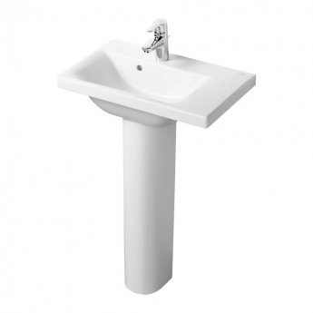Ideal Standard Concept Space RH Basin with Full Pedestal 600mm Wide - 1 Tap hole