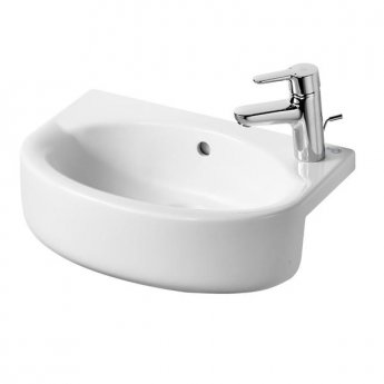 Ideal Standard Concept Space Arc Semi-Countertop Right Handed Basin 500mm 1 Tap Hole