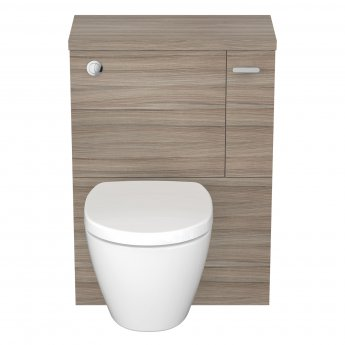 Ideal Standard Concept Space WC Unit with Worktop and Adjustable Cistern RH 600mm Wide - Elm