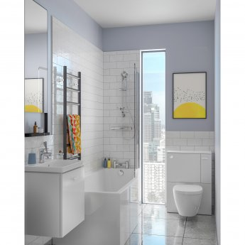 Ideal Standard Concept Space WC Unit with Worktop and Adjustable Cistern RH 600mm Wide - Gloss White