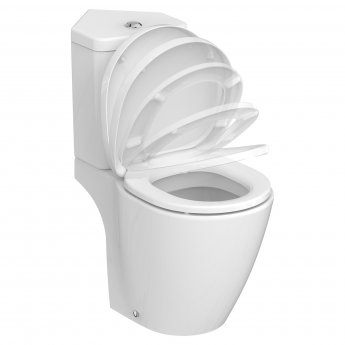 Ideal Standard Concept Space Close Coupled Toilet with Corner Cistern - Soft Close Seat