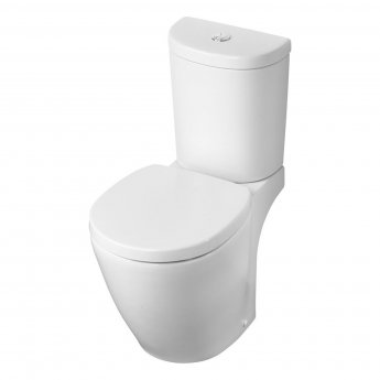 Ideal Standard Concept Space Close Coupled Toilet with 4/2.6 Cistern - Soft Close Seat and Cover