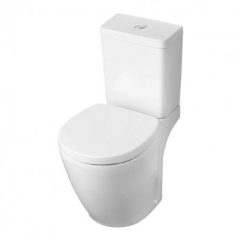 Ideal Standard Concept Space Close Coupled Toilet with Cube Cistern - Soft Close Seat