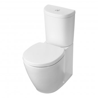 Ideal Standard Concept Space Close Coupled Toilet - Push Button Cistern - Soft Close Seat
