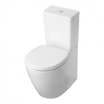 Ideal Standard Concept Space Back To Wall Close Coupled Toilet with Cube Cistern - Soft Close Seat