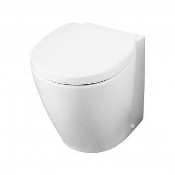 Ideal Standard Concept Space Compact Back to Wall Toilet WC - Soft Close Seat and Cover White