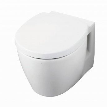 Ideal Standard Concept Space Compact Wall Hung Toilet WC - Soft Close Seat and Cover White