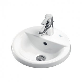 Ideal Standard Concept Sphere Countertop Basin 380mm Wide 1 Tap Hole