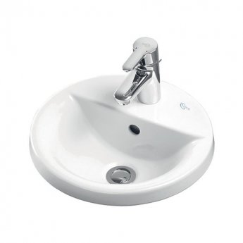 Ideal Standard Concept Sphere Countertop Basin 480mm Wide 1 Tap Hole