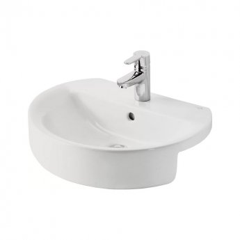 Ideal Standard Concept Sphere Semi-Countertop Basin 550mm Wide 1 Tap Hole