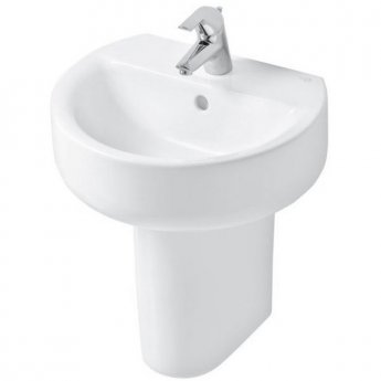 Ideal Standard Concept Sphere Handrinse Basin and Semi Pedestal 450mm Wide 1 Tap Hole