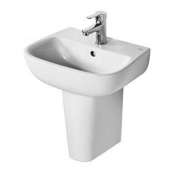 Ideal Standard Echo Handrinse Basin and Small Semi Pedestal 450mm Wide - 1 Tap Hole