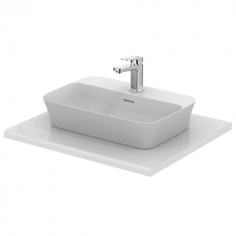 Ideal Standard Ipalyss Vessel Countertop Basin 550mm Wide 1 Tap Hole