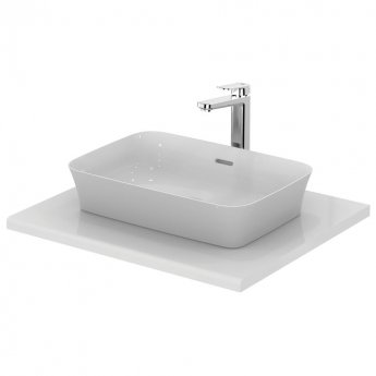 Ideal Standard Ipalyss Vessel Countertop Basin with Overflow 550mm Wide 0 Tap Hole