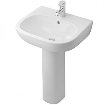 Ideal Standard Jasper Morrison Basin and Full Pedestal 550mm Wide 1 Tap Hole