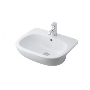 Ideal Standard Jasper Morrison Semi Countertop Basin 550mm Wide 1 Tap Hole