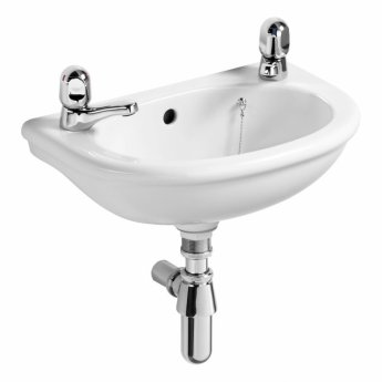 Ideal Standard Sandringham Dorex Washbasin 450mm Wide 2 Tap Hole
