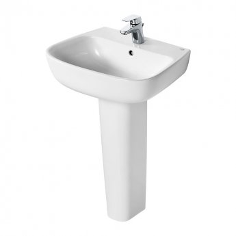 Ideal Standard Studio Echo Basin and Full Pedestal 550mm Wide - 1 Tap Hole
