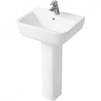 Ideal Standard Tempo Basin and Full Pedestal 550mm Wide 1 Tap Hole