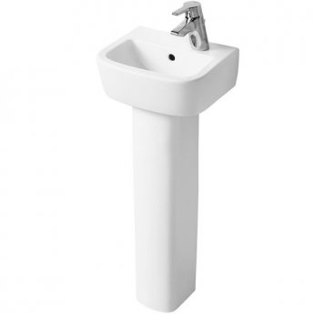 Ideal Standard Tempo Handrinse Basin and Pedestal 350mm Wide Left Hand 1 Tap Hole